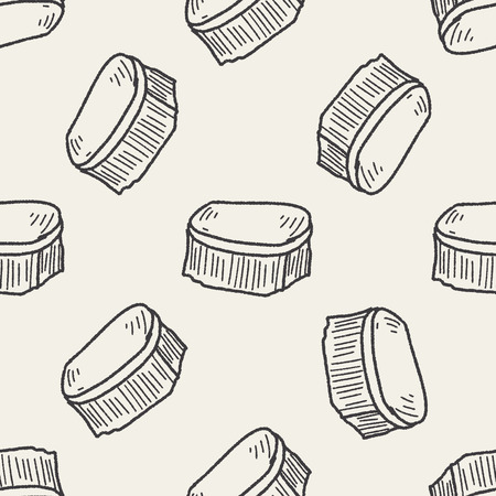 dust pan: clean brush doodle seamless pattern background