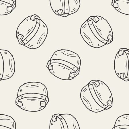 packaging equipment: plastic box doodle seamless pattern background