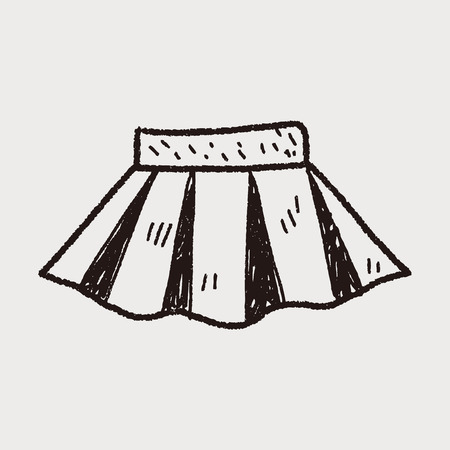 falda: doodle de falda