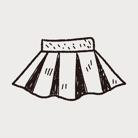 mini skirt: jupe doodle