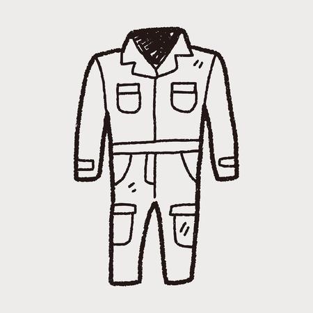 overalls doodle Illustration