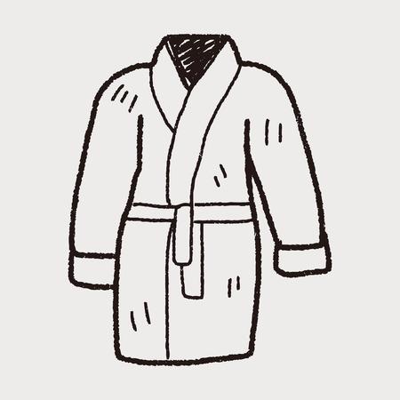 back belt: doodle de albornoz Vectores