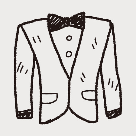 businessman suit: suit doodle Illustration