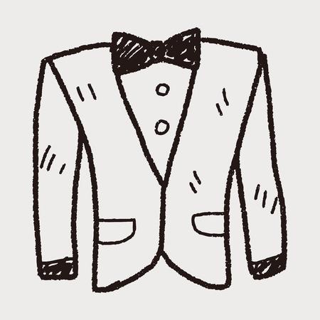 traje formal: traje del doodle