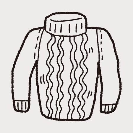 セーターの落書き  イラスト・ベクター素材