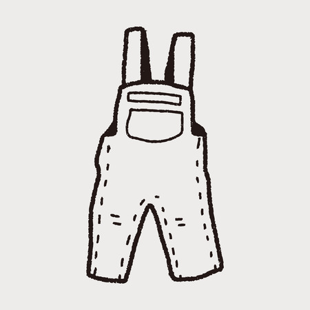dungarees: overalls doodle Illustration
