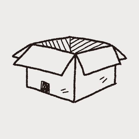 delivery box: open box delivery doodle