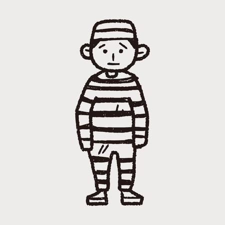 man in jail: jail doodle