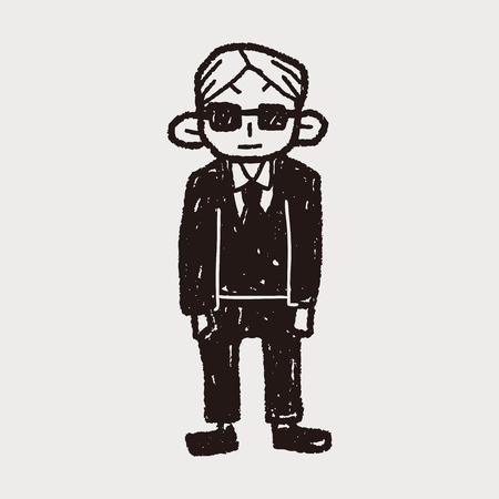 guardaespaldas: doodle de guardaespaldas