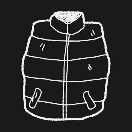 waistcoat: vest doodle Illustration