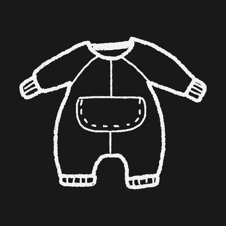 ropa de beb�: baby clothes doodle Vectores