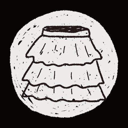 mini skirt: skirt doodle
