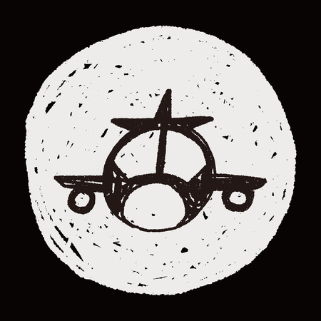 airplane doodle Vector
