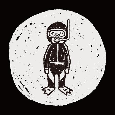 wetsuit: diver doodle