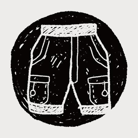 short: short pant doodle