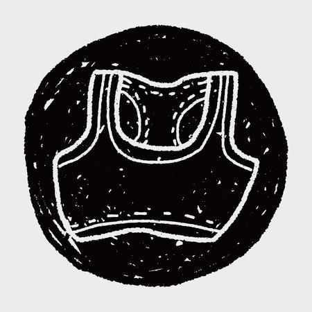 vest: sport vest doodle