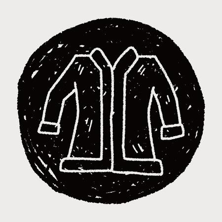 woman in fur coat: Coat doodle