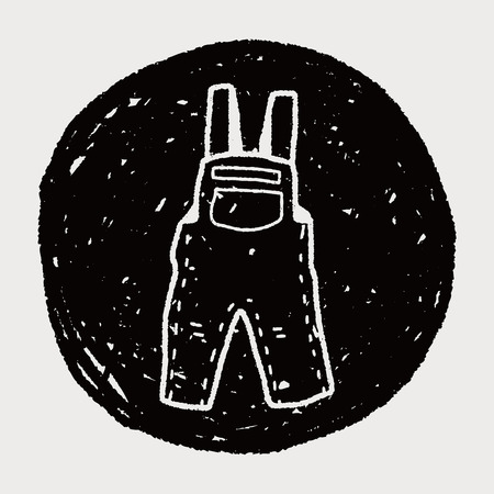overalls: overalls doodle Illustration