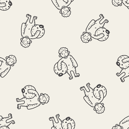 actor: actor doodle seamless pattern background
