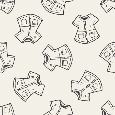 overcoat: overcoat doodle seamless pattern background Illustration