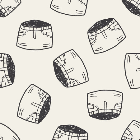 mini: skirt doodle seamless pattern background