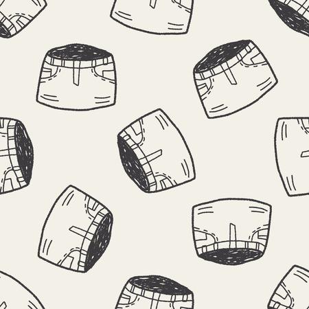 Mini skirt: skirt doodle seamless pattern background