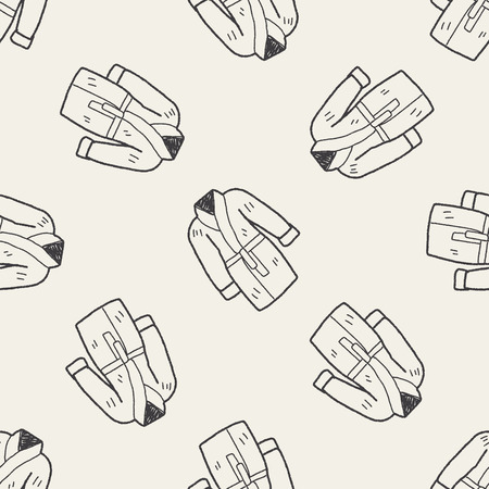 back belt: bathrobe doodle seamless pattern background Illustration