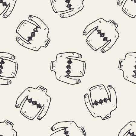 sueter: Doodle suéter patrón de fondo sin fisuras