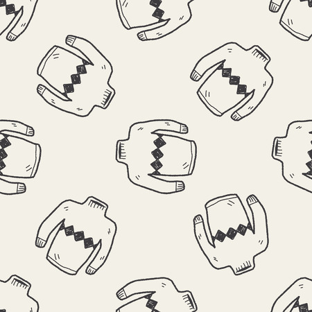 Sweater doodle seamless pattern background Illustration