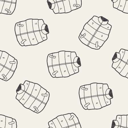 sleeveless hoodie: vest doodle seamless pattern background Illustration
