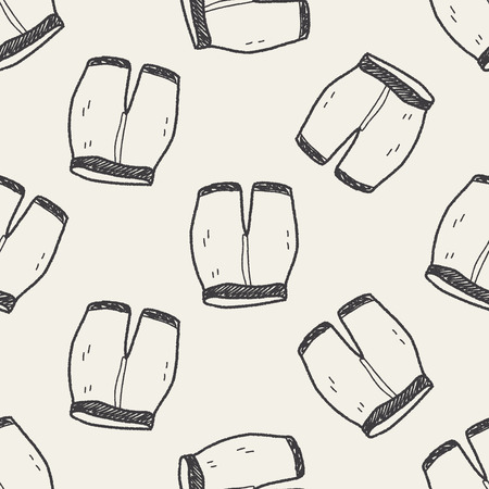 pant: short pant doodle seamless pattern background