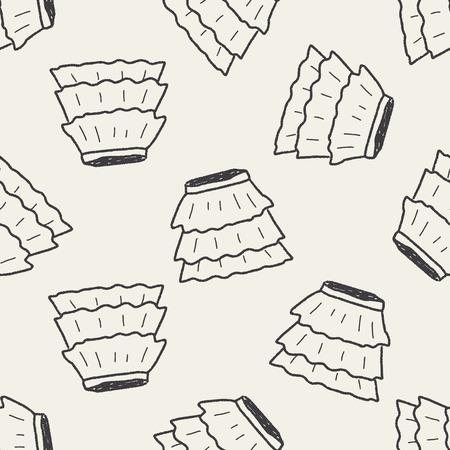 minifalda: doodle de la falda de fondo sin fisuras patrón