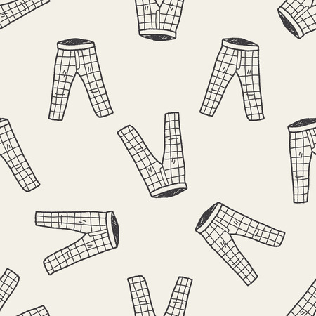 pant: pant doodle seamless pattern background Illustration