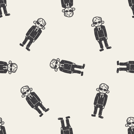 bodyguard: bodyguard doodle seamless pattern background