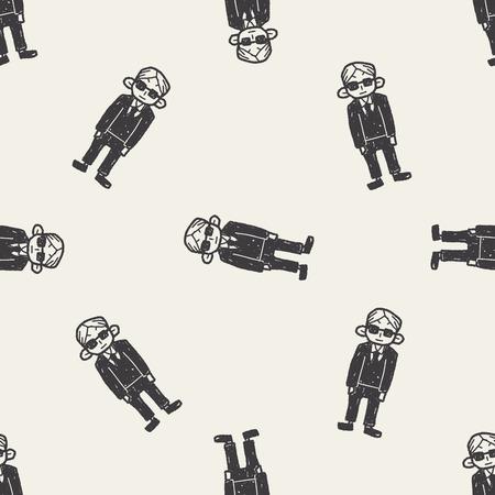bodyguard: bodyguard doodle seamless pattern background