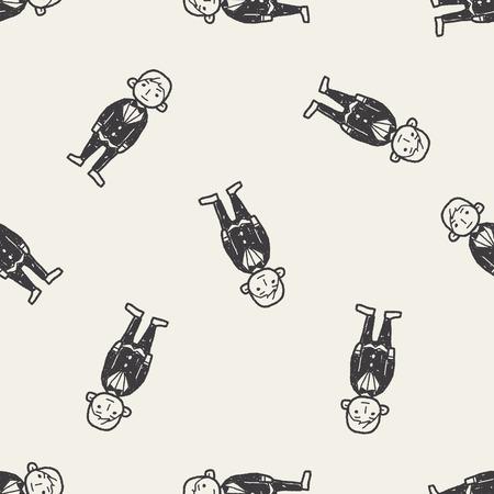 bridegroom: bridegroom doodle seamless pattern background
