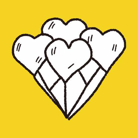 palloncino cuore: palloncino cuore Doodle
