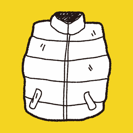 sleeveless hoodie: vest doodle Illustration