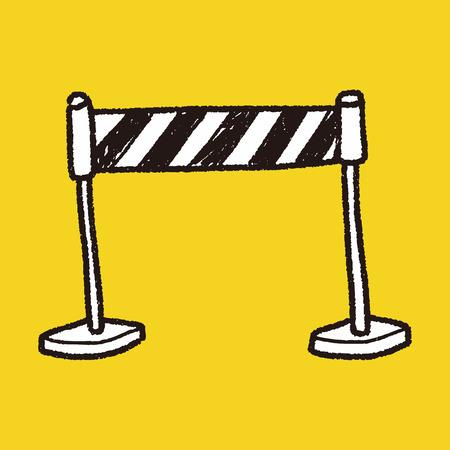 stop sign doodle Illustration