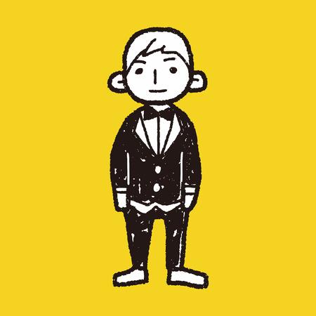 bridegroom: bridegroom doodle Illustration