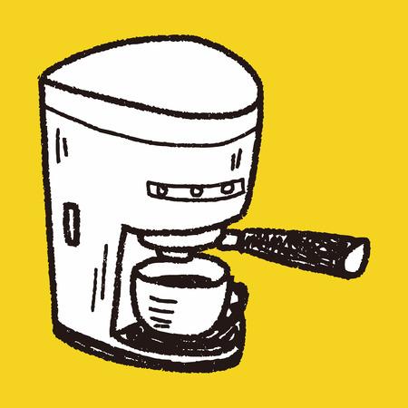 maker: coffee maker doodle