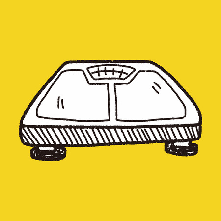 scale icon: weight scale doodle