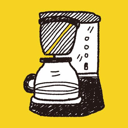 sign maker: coffee maker doodle