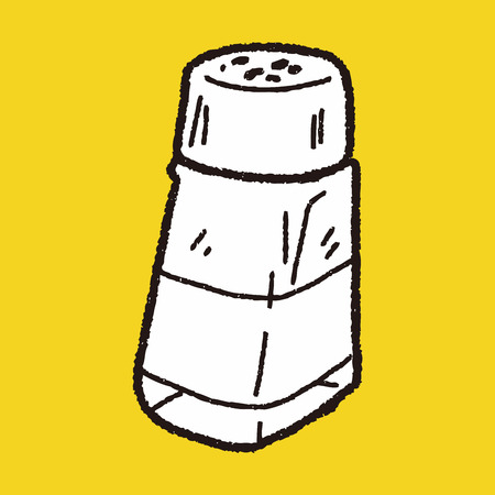 pepper grinder: salt pepper doodle Illustration