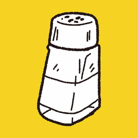salt pepper: salt pepper doodle Illustration