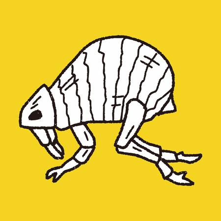 dog bite: Flea doodle
