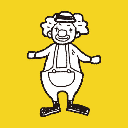 purim carnival party: clown doodle