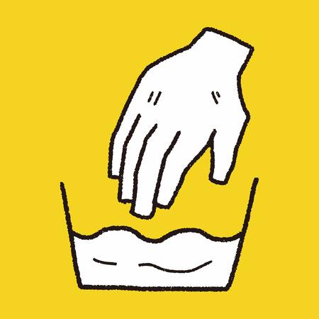 wash hand: wash hand doodle