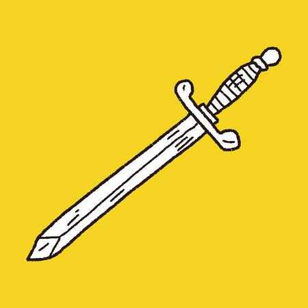 medieval sword: sword doodle