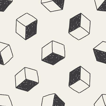 verzenddoos doodle naadloze patroon achtergrond Stock Illustratie